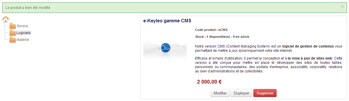 Gestion catalogue e-commerce